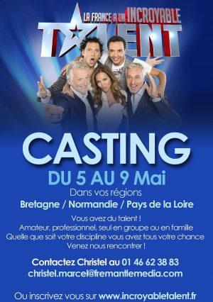 Casting Émission Télé La France a un Incroyable Talent